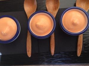 Espuma van gazpacho als aperitiefhapje